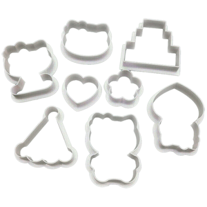 Hellow Kitty Shape Cookie Cutter 8 Pcs Set - bakeware bake house kitchenware bakers supplies baking