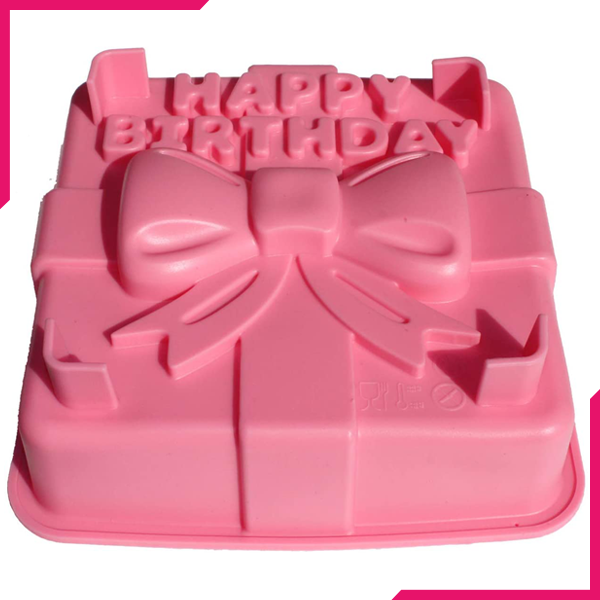 Happy Birthday Silicone Cake Mold - bakeware bake house kitchenware bakers supplies baking