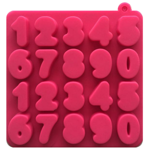 0 to 9 Digital Number Shape Silicone Ice Cube Tray Mold - bakeware bake house kitchenware bakers supplies baking