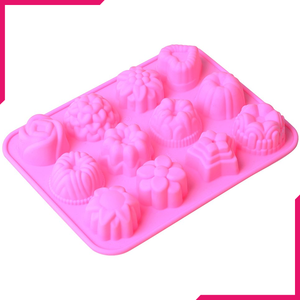 12 Cavity Silicone Flower Mold - bakeware bake house kitchenware bakers supplies baking