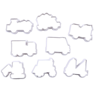 Construction Vehicle Cookie Cutter 8 Pcs Set - bakeware bake house kitchenware bakers supplies baking