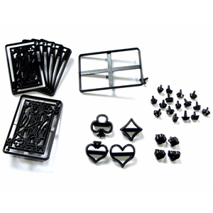 28Pcs Plastic Poker Cards Embossing Cake Mold DIY Cookie Cutter - bakeware bake house kitchenware bakers supplies baking