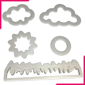 Nature - Grass, Sun, Cloud Plastic Cutter (5pcs)