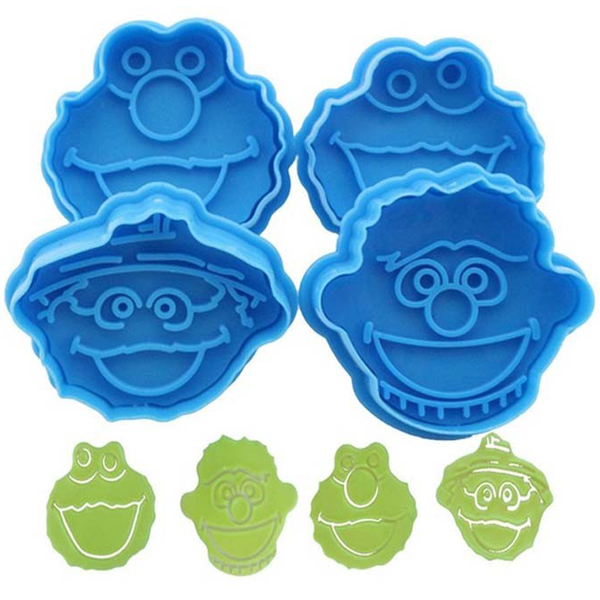 3D Sesame Street Elmo Biscuit Cookie Cutter Hand Stamp Press Plunger Cutter Mold - bakeware bake house kitchenware bakers supplies baking