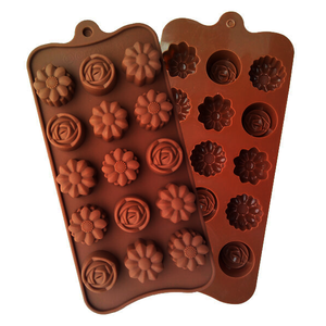 Chocolate Mold Flowers Shapes - bakeware bake house kitchenware bakers supplies baking