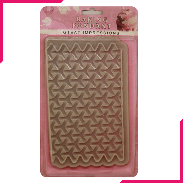 Silicone Fondant Hexagon Pattern Mold - bakeware bake house kitchenware bakers supplies baking