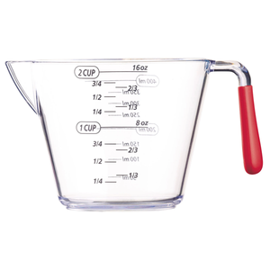 Acrylic Measuring Jug 500ml - bakeware bake house kitchenware bakers supplies baking