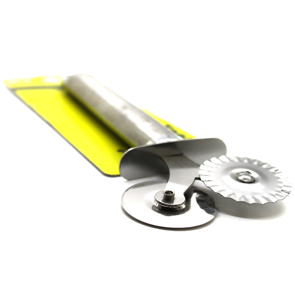 Pizza & Dough Cutter Stainless Steel Wheel Cutter Flat & Fluted - bakeware bake house kitchenware bakers supplies baking