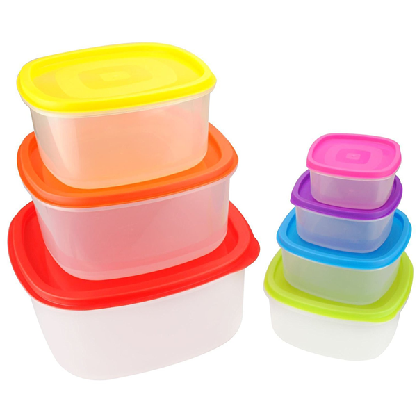 7 Pieces Home Food Storage Container Square - bakeware bake house kitchenware bakers supplies baking