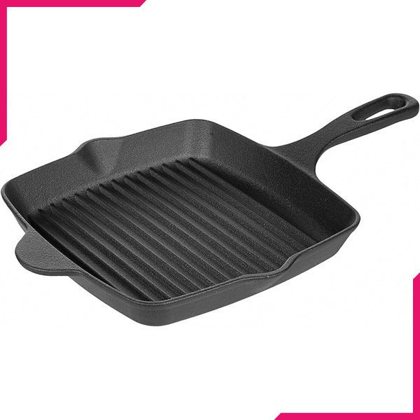 Cast Iron Square Griddle Pan -27Cm - bakeware bake house kitchenware bakers supplies baking