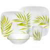 Corelle 16 Pcs Square Dinnerware Set - Bamboo Leaf