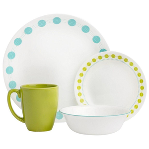 Corelle Livingware Series 16 Pc Set South Beach - bakeware bake house kitchenware bakers supplies baking