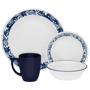 Corelle Livingware Series 16 Pc Set True Blue - bakeware bake house kitchenware bakers supplies baking
