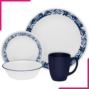 Corelle Livingware Series 16 Pc Set True Blue