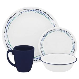 Corelle Livingware Series 16 Pc Set Ocean Blues - bakeware bake house kitchenware bakers supplies baking