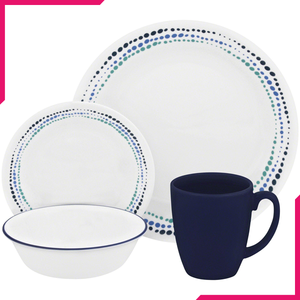 Corelle Livingware Series 16 Pc Set Ocean Blues