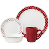 Corelle Livingware Series 16 Pcs Set Crimson Trellies - bakeware bake house kitchenware bakers supplies baking