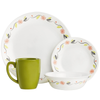 Corelle Livingware Series 16 Pcs Set Tangerine Garden - bakeware bake house kitchenware bakers supplies baking