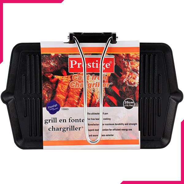 Prestige Cast Iron Grill Pan 35cm - bakeware bake house kitchenware bakers supplies baking