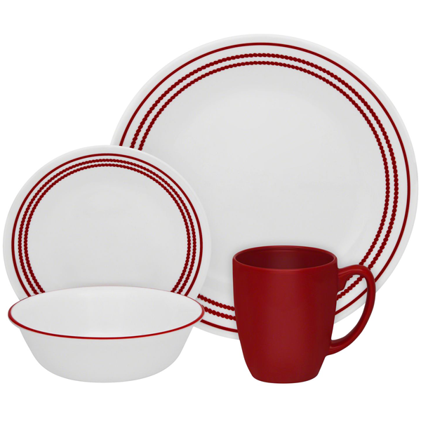 Corelle Livingware Series 16 Pcs Set Ruby Red - bakeware bake house kitchenware bakers supplies baking