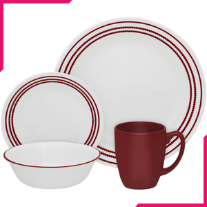 Corelle Livingware Series 16 Pc Set Ruby Red