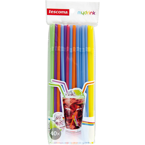 Tescoma Drinking Straws Long Hinge - bakeware bake house kitchenware bakers supplies baking