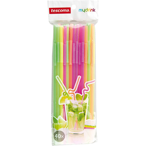 Tescoma Mydrink Long Neck Drinking Straws - bakeware bake house kitchenware bakers supplies baking