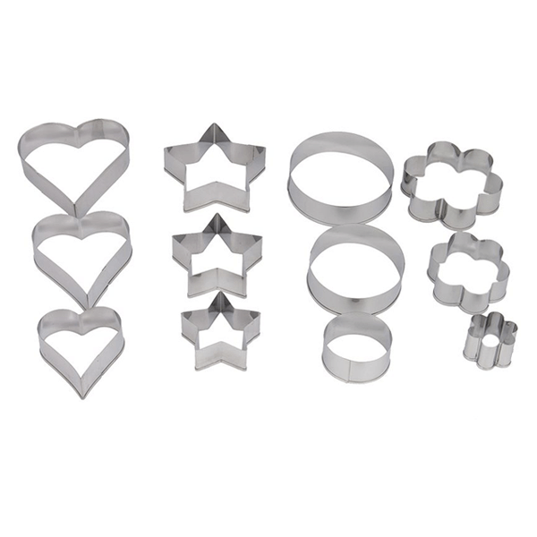 Prestige 12Pcs Biscuit Cutter - bakeware bake house kitchenware bakers supplies baking