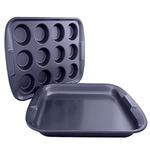 Prestige 12 Cup Muff & Oven Tray - bakeware bake house kitchenware bakers supplies baking