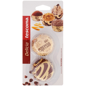 Tescoma Delicia Mini Cupcake Liner Coffee Theme - bakeware bake house kitchenware bakers supplies baking