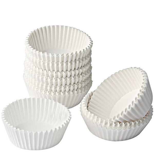 Tescoma Mini White Paper Baking Cup - bakeware bake house kitchenware bakers supplies baking