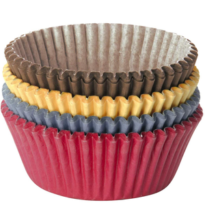 Tescoma Mini Coloured Paper Baking Cup - bakeware bake house kitchenware bakers supplies baking