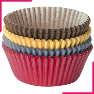 Tescoma Cupcake Liner Coloured Paper - bakeware bake house kitchenware bakers supplies baking