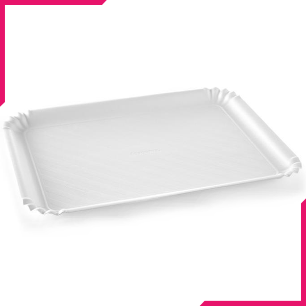 Tescoma Delicia Tray White 42x31cm - bakeware bake house kitchenware bakers supplies baking