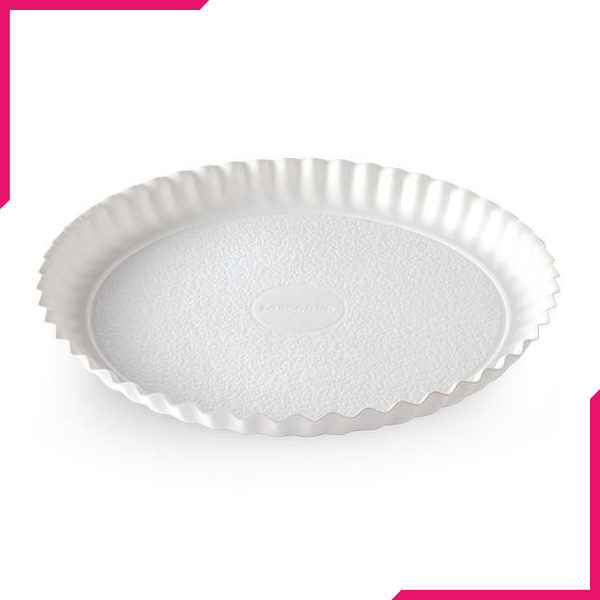 Tescoma Delicia Round Tray White 30cm - bakeware bake house kitchenware bakers supplies baking