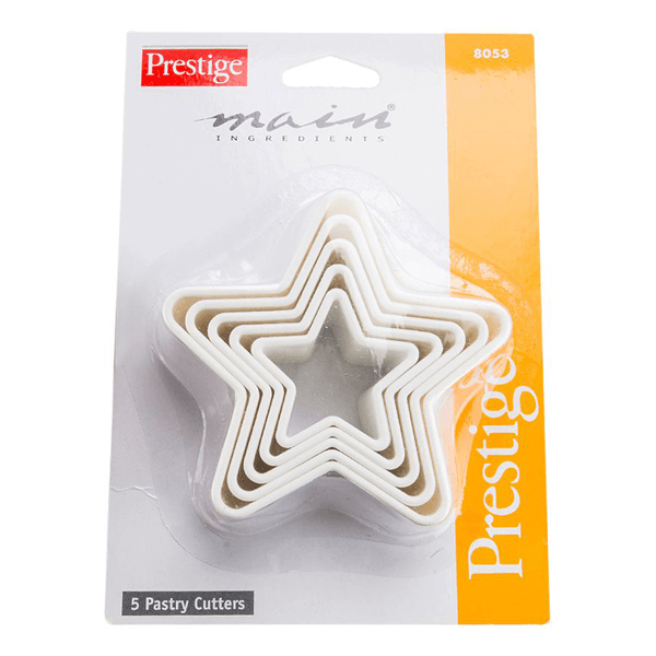 Prestige 5Pcs Star Shape Pastry - bakeware bake house kitchenware bakers supplies baking