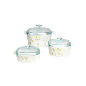 Corningware 6 Pc Casserole Set - Kobe - bakeware bake house kitchenware bakers supplies baking