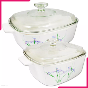 Corningware 4 Pc Casserole Set - Shadow Iris - bakeware bake house kitchenware bakers supplies baking
