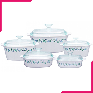 Corningware 10 Pc Chef Classic Set Country Cottage - bakeware bake house kitchenware bakers supplies baking
