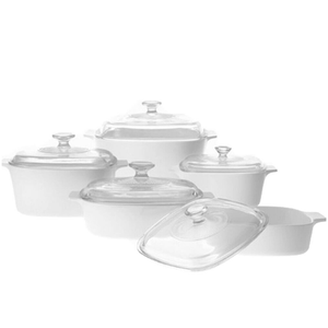 Corningware 10 Pc Chef Classic Set Just White - bakeware bake house kitchenware bakers supplies baking