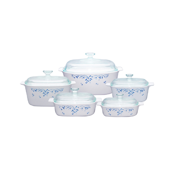Corningware 10 Pc Chef Classic Set Provincial Blue - bakeware bake house kitchenware bakers supplies baking