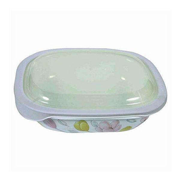 Corelle 2.83L Oblong Dish Elegant City with plastic cover