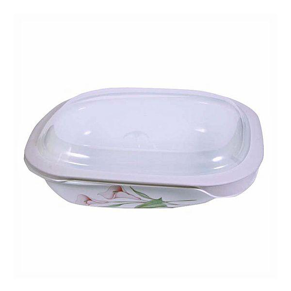Corelle 2.83L Oblong Dish Lillyville with plastic cover - bakeware bake house kitchenware bakers supplies baking