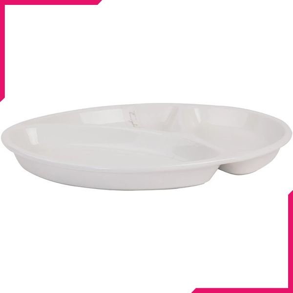 Symphony Round 3Division Plate - bakeware bake house kitchenware bakers supplies baking