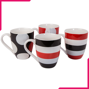 Symphony Big Time Mugs 4Pcs - bakeware bake house kitchenware bakers supplies baking