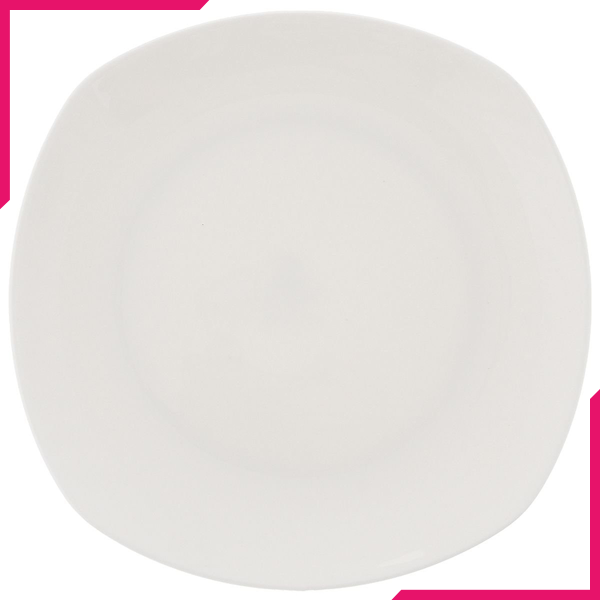 "Wilmax Fine Porcelain Bread Plate 6.5"" X 6.5"" - bakeware bake house kitchenware bakers supplies baking"