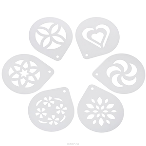 Tescoma  MYDRINK 6 Cappuccino Stencils - bakeware bake house kitchenware bakers supplies baking