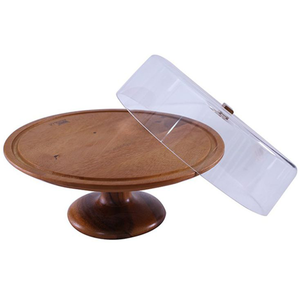 Billi Cake Dish with Wooden Stand - bakeware bake house kitchenware bakers supplies baking