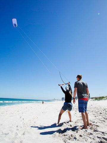 The full day kitesurfing lesson in Cape Town will begin with an introduction to Kitesurfing theory session followed by kite flying using foil trainer kites on the beach.