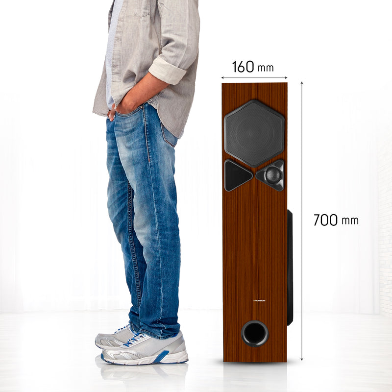 Thomson TSP10 100Watts Bluetooth Tower Speakers (Brown)